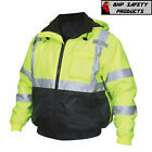 Hi-vis Insulated Safety Bomber Reflective Jacket With Quilted Liner Road Work