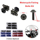Motorcycle Screw Windscreen Fender Fairing Bolts Kit Fastener Clip Screw Rivet