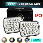 DOT 45W 7X6 Led Headlight Seal Beam For Cherokee Wrangler Yj 2pcs