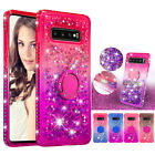 Quicksand Liquid Bling Shining Ring Stand Case Cover For Samsung Galaxy M20 S10+