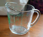 VINTAGE FIRE KING 2 CUP MEASURING CUP~1 PINT~#498~USA MADE 7 ~Green