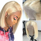 Ombre Blonde Bob Straight Glueless Lace Front Wig Real Indian Human Hair Wigs ua