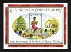 St Vincent 1987 Charles Dickens Christmas miniature sheet SG MS1124 MNH