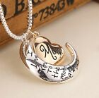 I Love You To The Moon and Back Mom Necklace  Pendant Birthday Mothers Day Gift