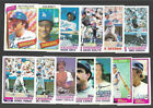 Big Lot Dodgers 66 Cards 1980 Topps + Tiffanys + Monday Lasorda Yeager