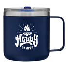 12 oz Happy Camper Vacuum Insulated Travel Mug with Lid by MugHeads Double hot