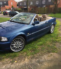 LARGER PHOTOS: BMW 325i convertible M sport  manual  blue , leather , new MOT