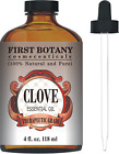 First Botany Cosmeceuticals Therapeutic Grade Clove Leaf Essential Oil with a 4