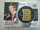 BOBBY ORR TRILOGY BY UPPER DECK H.O.F.I. HAND AUTO. SIGNATURE PUCK # 9 10 L@@K!!