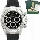 Rolex Daytona Cosmograph Black Diamond 18K White Gold Chronograph Watch 116519