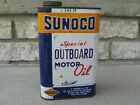 Vintage 1950s SUNOCO Special Outboard Motor Oil 1 Quart Tin Can 1953 Sun Oil Co.