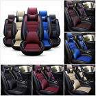 US Luxury 11pcs Car Seat Cover Cushion Front & Rear Full Set PU Leather Interior