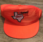 Texaco Texas Vintage Neon Orange Snapback Hat Cap