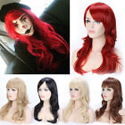 Fashion Women Synthetic Hair Wigs Wig Curly Straight Ombre Colors With Bangs E5