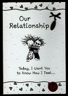 CHILDREN OF THE INNER LIGHT Our Relationship I Love You CHARM Greeting Card