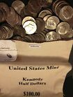 1971 2019 PD Kennedy Half Dollar 100 Coin Lot 2x Silver 90 40 +US Mint Bag