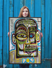 NEO Street Art Graffiti Face Print Urban Abstract Modern Poster Quotes Wall Deco