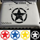 Graphic Military Vinyl Car Hood Sticker Army Star Auto Decal For Jeep Wrangler