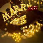 Sign Wall Hanging LED Night Light Letters Pattern Alphabet Party Decor Lamp