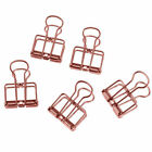 5 Pc Metal Wire Retro Hollow Photo Clips Paper Binder Clips Organizer Office Lot