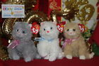 TY BEANIE BABY TRIO CATS: FLUFF + MUFF + PLUFF-6