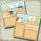 Lazy Beach Day 2 Premade Scrapbook Pages EZ Layout 3790