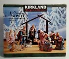 Kirkland Signature 14 Piece Porcelain Nativity Set wood creche missing 75177