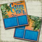 Summer 2 Premade Scrapbook Pages EZ Layout 3990