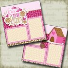 My New Puppy Pink 2 Premade Scrapbook Pages EZ Layout 4028