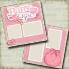 Baby Girl 2 Premade Scrapbook Pages EZ Layout 4036