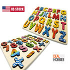 Wooden Alphabet  Number Puzzle For Toddlers Board Early Learning Toys 1 2 3 Age