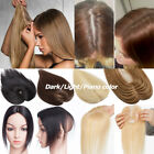 Top Topper Virgin Human Hair System Hairpiece Black Brown Blonde Wig Replace US