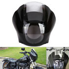 Head Fairing Clear Windshield Kit For Sportster XL 883 1200 88-Up Dyna Black