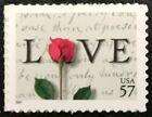 2001 Scott 3551 57 ROSE AND LOVE LETTERS Single Mint NH