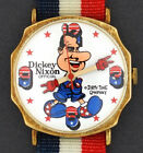 Vintage wind-up Richard Dickey Nixon Political Character Watch by Dirty Time Co.