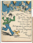 1928 Birthday Card Mentioning Presidential Candidates Herbert Hoover Al Smith
