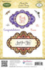 JustRite Thank You Labels Twenty Cling Stamps CL 03810Free Ship