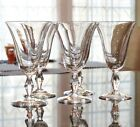 5 Vintage Stemware Tall Tea Water Wine Glasses 6 1/2 Inch Clear Glass 3