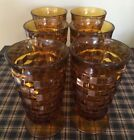 Colony Whitehall Amber Set Of 6 Iced Tea Glasses. Excellent Condition