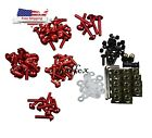 US bodywork Fairing Bolts For Honda CBR 600RR 1000RR 125R 250R 300R NSR50 Red
