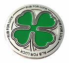 Four Leaf Clover Golf Ball Marker Rub For Luck Package of 2