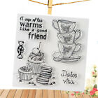 teacup clear rubber stamps seal scrapbooking album card decor diary diy craft