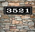 Personalized Home Address Sign Aluminum 3 x 12 Custom House Number Plaque sq8