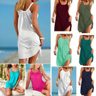 US Women Holiday Beach Bikini Cover Up Boho Casual Party Sun Mini Dress Sundress