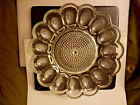 Vintage Clear Indiana Glass Deviled Egg Plate Tray 11''