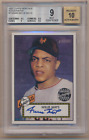 WILLIE MAYS 2001 TOPPS HERITAGE AUTO GIANTS BGS 9 10