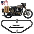 Black Steel Engine Leg Guard Crash Bar For Royal Enfield Classic 500 Pegasus US