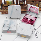 Travel Marble Surface Mini Storage Contact Lens Holder Case Mirror Box Container