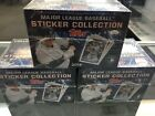 (3) 2018 MLB TOPPS STICKER COLLECTION 3 SEALED BOX LOT - 50 Packs per Box