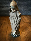 Monk Figurine Robe Hooded Boy Child with Dog (Retired 1982) Nao by Lladro